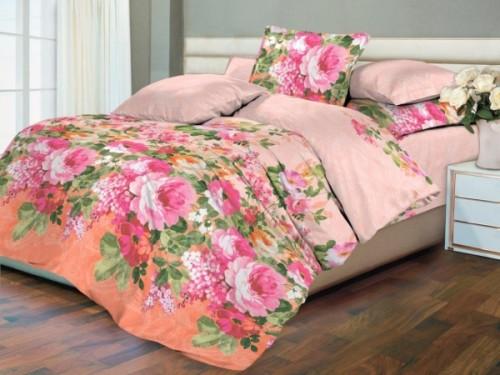 Комплект постільної білизни бязь Рожеві троянди (полуторний)
