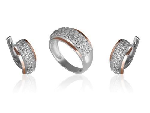 Сережки ДЮНА (срібло та золото)