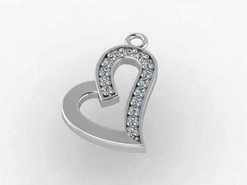Підвіска «Серце» (срібло)