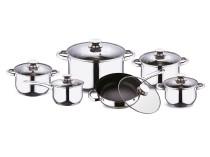 Набор посуды из нержавеющей стали (12 предметов)