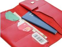 Тревел-кейс кожаный красный
