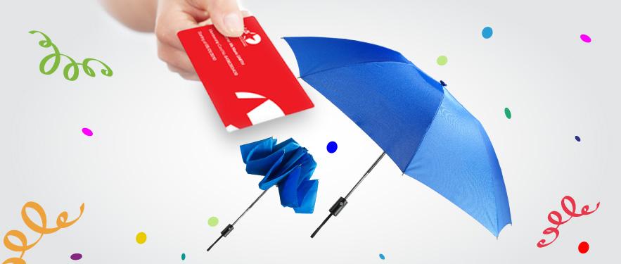 Чудо-парасолька при вступі до Клубу 5★